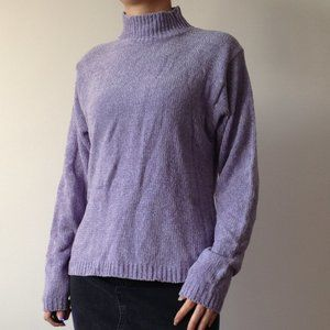American Connection - Soft Chenille Purple Sweater